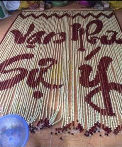 rèm hạt gỗ tại xưởng