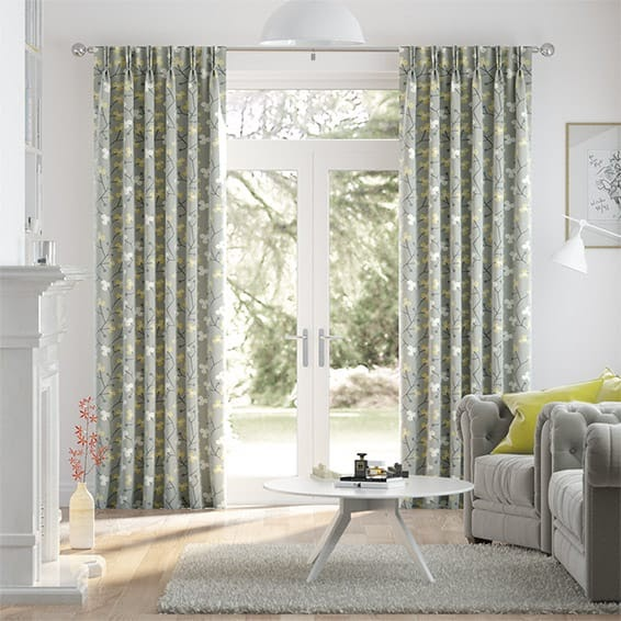 rèm vải canvas dùng trong phòng khách