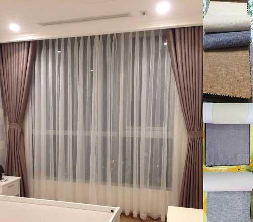 Rèm vải bố có cách dệt khá đặc biệt phù hợp với nhiều không gian thiết kế nhà ở