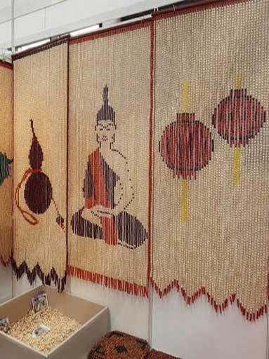 Rèm cửa hạt gỗ phù hợp với những không gian nào