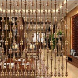 rèm hạt gỗ phòng khách