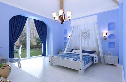 rèm cửa màu xanh dương