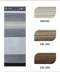 Bảng màu rèm càu vồng eco home stripe
