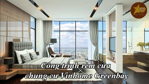 thi công rèm cửa chung cư Vinhome Greenbay