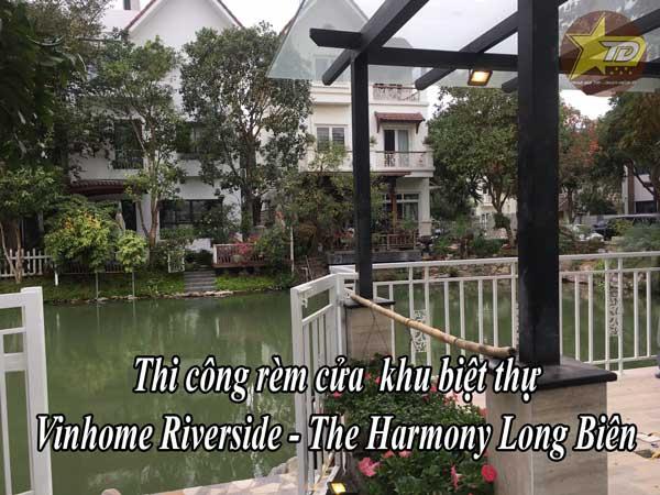 thi công rèm cửa khu biệt thự Vinhome Reverside The Harmony Long Biên
