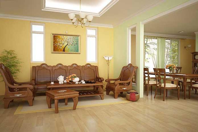 không gian phòng khách vô dịnh hình