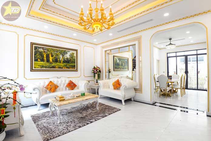 không gian nội thất tân cổ điển