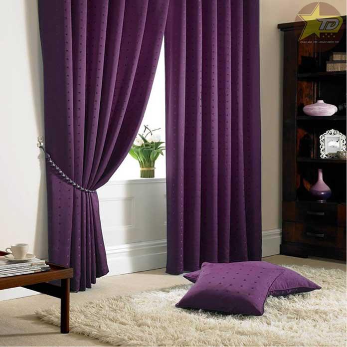 rèm cửa màu tím
