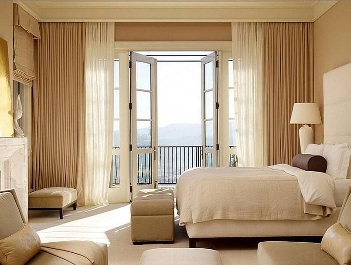 Rèm vải hai lớp cho phòng ngủ vợ chồng