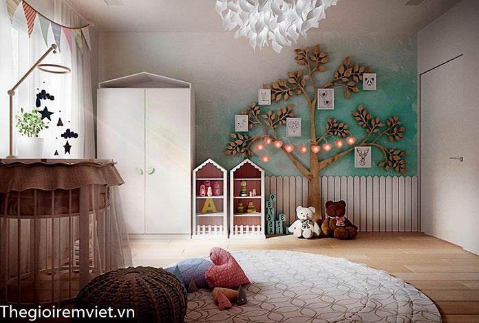 Tạo không gian vui chơi trong phòng ngủ của bé gái