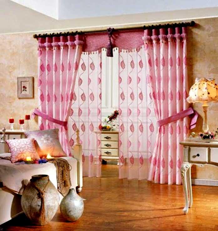 Hoạ tiết nổi bật trên rèm trang trí phòng ngủ