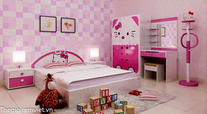 Lựa chọn kích thước giường phù hợp với không gian phòng ngủ của bé gái