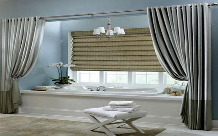 Lựa chọn kích thước rèm phù hợp với không gian phòng tắm