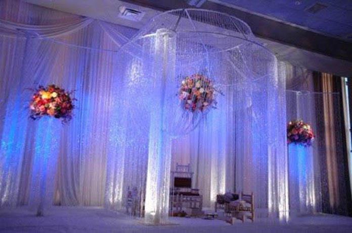 mành sợi trang trí đám cưới