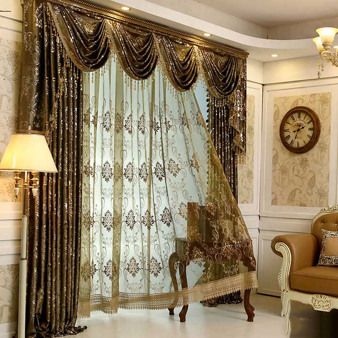 Rèm cửa chính theo phong cách tân cổ điển