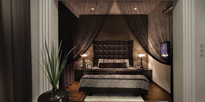 Sử dụng rèm kim tuyến trong phòng ngủ