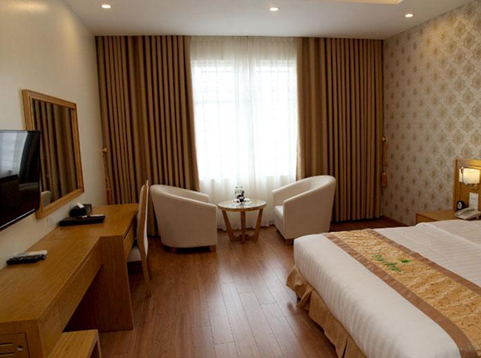 Rèm vải voan cho không gian phòng khách sạn