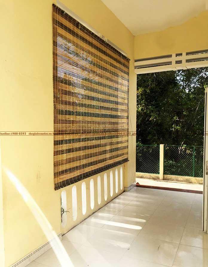 Sử dụng màn tre cho không gian bên ngoài ngôi nhà