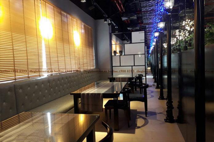 Lắp đặt rèm cửa gỗ cho không gian nhà hàng