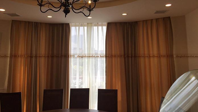 Rèm vải hai lớp cho không gian nhà hàng