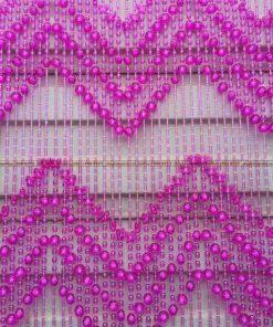 rèm hạt nhựa màu tím
