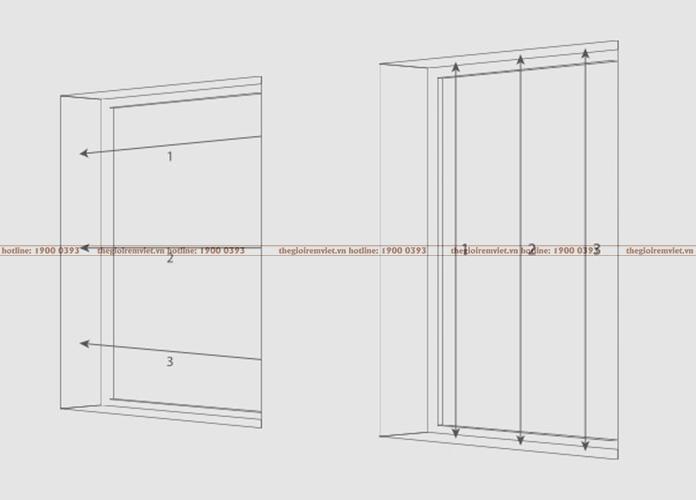cách đo rèm cửa lắp lọt khung