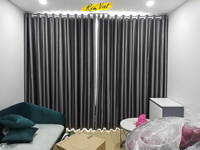 Rèm vải hai lớp cho không gian phòng khách