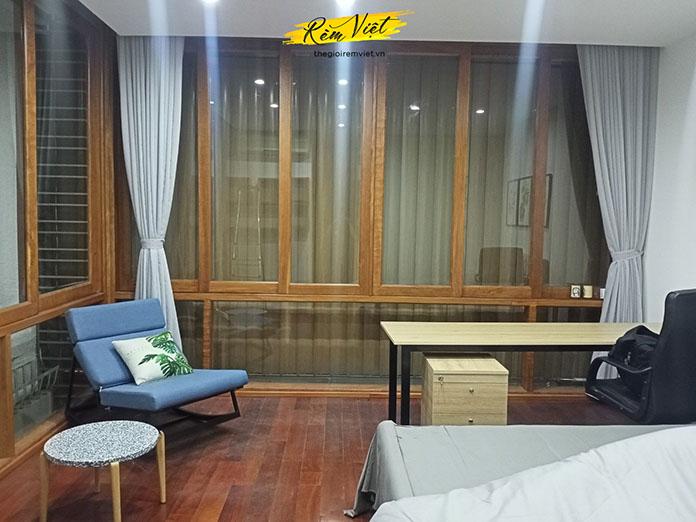 Rèm vải voan trang trí không gian phòng ngủ thêm phần lãng mạn tinh tế
