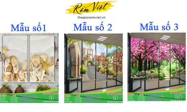 Ba mẫu rèm cuốn in tranh số 1 - Thế giới rèm Việt