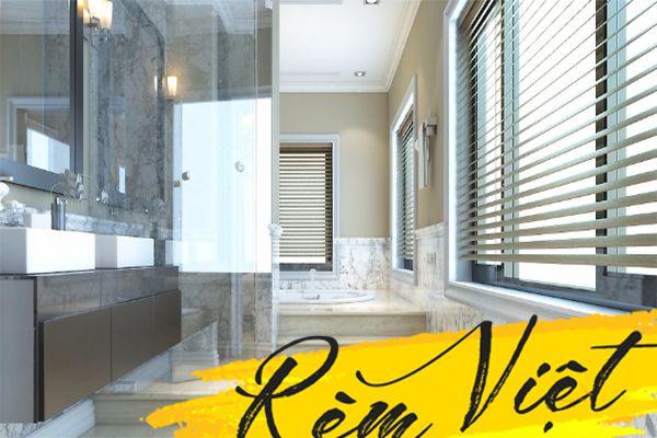 Gọn gàng, đơn giản cho các mẫu rèm cửa chung cư phòng tắm