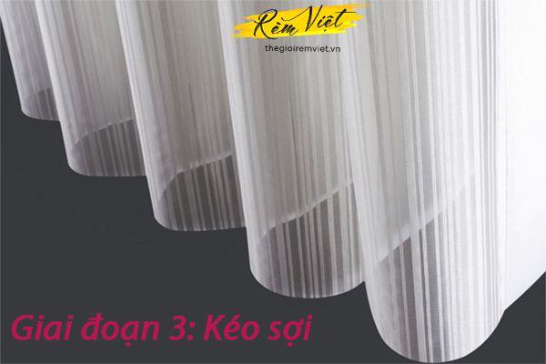 Giai đoạn kéo sợi trong quá trình sản xuất polyester