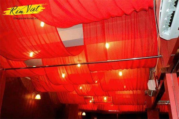 Màu sắc rèm trần phù hợp với từng không gian khác nhau