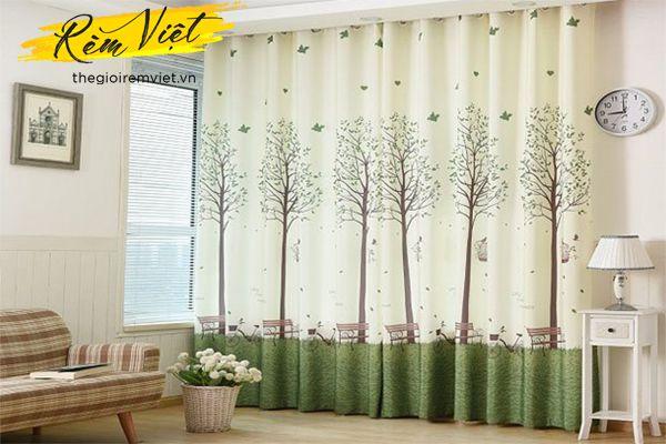 Mang cả thiên nhiên vào ngôi nhà với mẫu rèm họa tiết lãng mạn