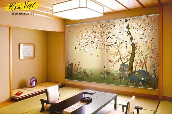Rèm cuốn in tranh tự động giúp không gian đẹp hơn