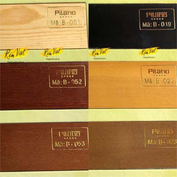 Bảng mẫu rèm gỗ pilano số 1 để khách hàng lựa chọn phù hợp với không gian gia đình