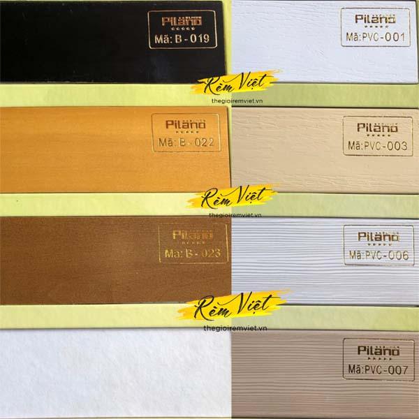 Bảng mẫu rèm gỗ pilano số 4 để khách hàng lựa chọn phù hợp với không gian gia đình