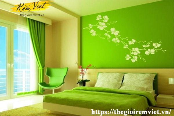 Chọn màu sắc rèm cửa sổ phòng ngủ hợp với người mệnh Mộc