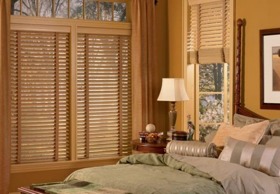 Mẫu rèm gỗ cho phòng ngủ đẹp