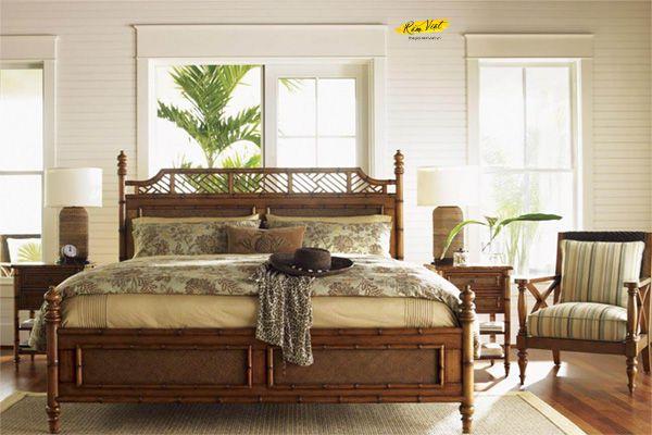 Mẫu thiết kế phòng ngủ lãng mạn nhẹ nhàng phong cách nhiệt đới