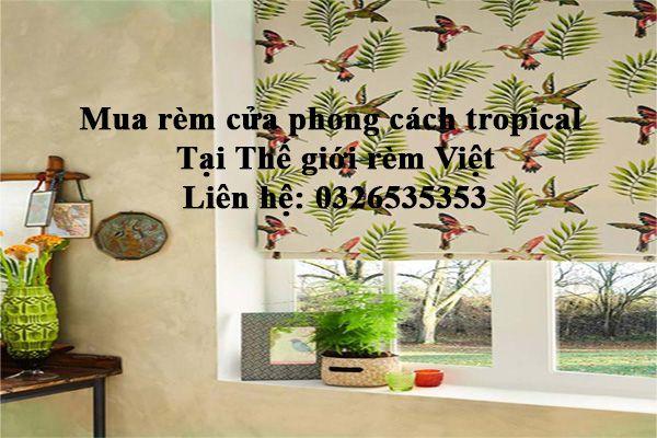 Mua rèm cửa phong cách nhiệt đới tropical ở đâu Hà Nội, Hồ Chí Minh