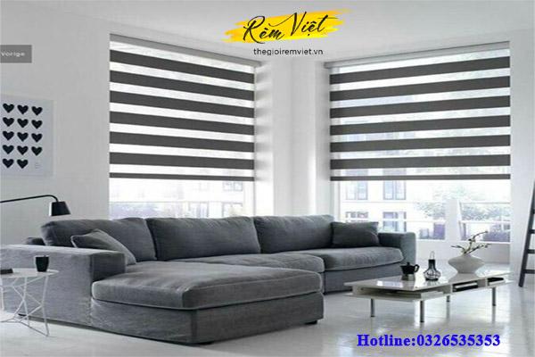 Rèm cầu vồng - mẫu rèm cửa phòng khách chung cư hiện đại