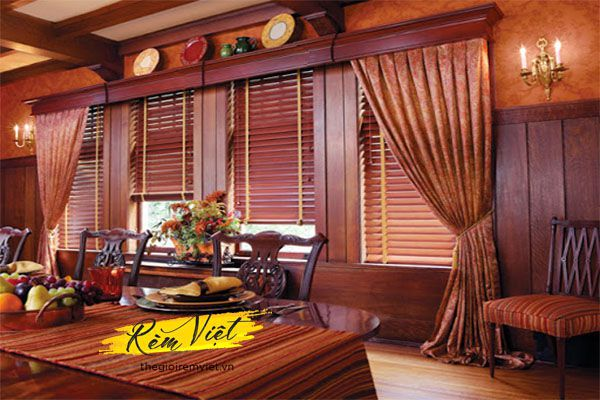 Rèm sáo gỗ cho quán cafe phong cách gần gũi giản dị