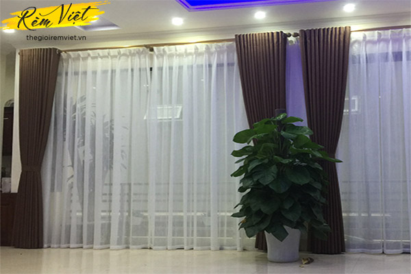 Rèm vải hai lớp cản sáng giá rẻ đẹp cho mọi không gian phòng khách