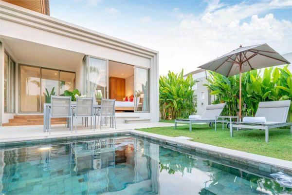 Thiết kế khuôn viên vườn và xung quanh nhà phong cách tropical