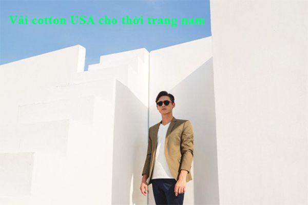 Vải cotton USA cho thời trang nam