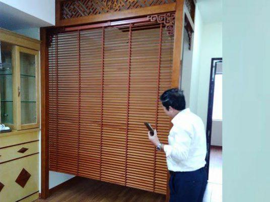 Mẫu rèm sáo gỗ cho phòng thờ gia tiên