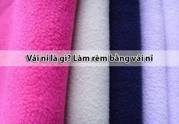 Vải nỉ là gì - Làm rèm cửa bằng vải nỉ có ưu điểm gì