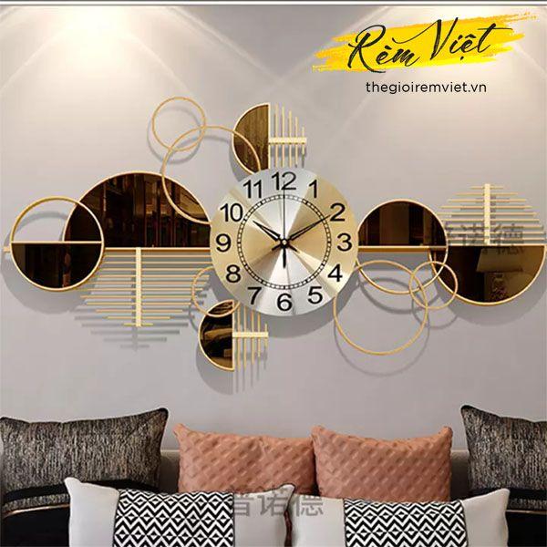 Đồng hồ treo tường decor độc lạ - Đồng hồ treo tường trang trí phòng khách sang trọng