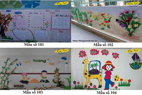 Mẫu trang trí lớp học mầm non giúp kích thích sự phát triển ý tưởng của trẻ nhỏ - Mẫu 101 đến 104