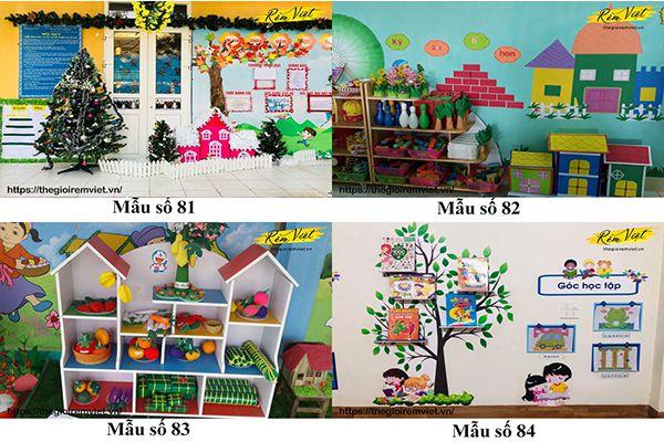 Mẫu trang trí lớp học mầm non giúp kích thích sự phát triển ý tưởng của trẻ nhỏ - Mẫu 81 đến 84